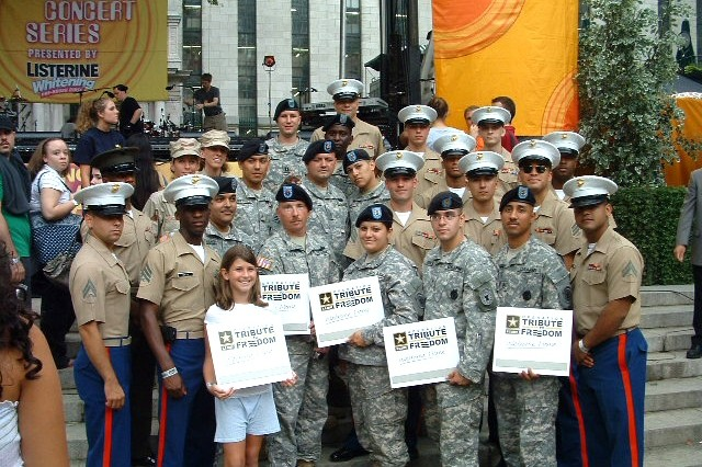 Eighty Soldiers were welcomed home from Iraq and Afghanistan through Good Morning America's summer concert series June through August. The effort was part of Operation Tribute to Freedom, an Army Public Affairs' Community Relations Division program designed to recognize Soldiers.