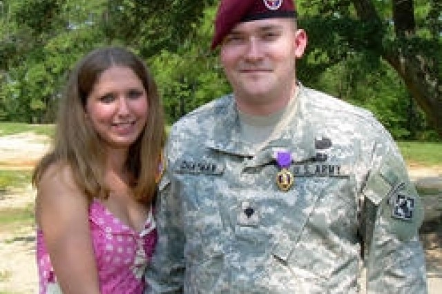 Spc. Michael P. Chatman was able to call his wife, Tiffany, after being wounded in Afghanistan.