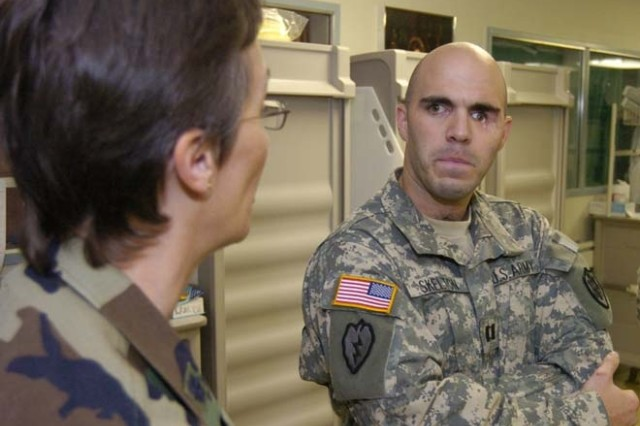 Returning Soldier says 'Thank you'