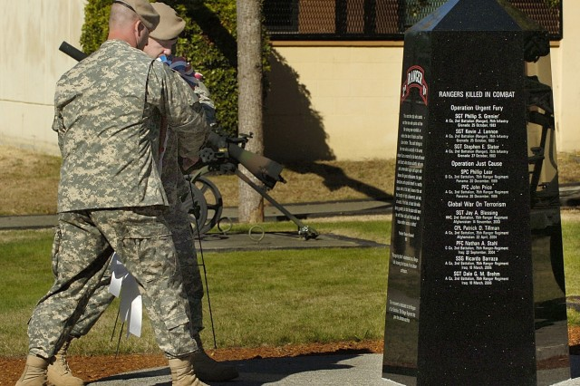 memorial pays tribute to fallen rangers article the united states army