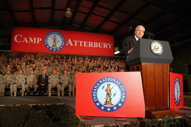 Vice President Cheney Thanks Indiana Army National Guard