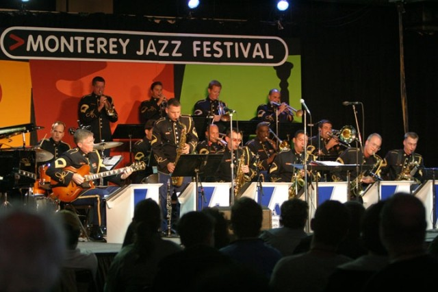 The U.S. Army Band's Army Blues perform at the Monterey Jazz Festival.