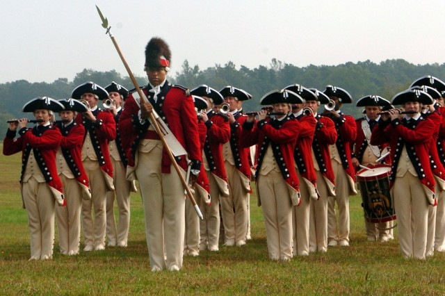 The Old Guard Fife and Drum Corps performs at a celebration commemorating the 225th anniversary of the American victory at Yorktown, Va., during the Revolutionary War. This photo appeared on www.army.mil.