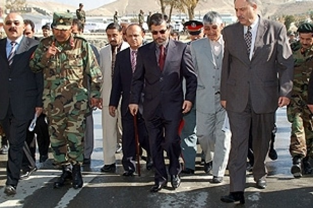 Afghan Leader Visits Kabul Military Training Center