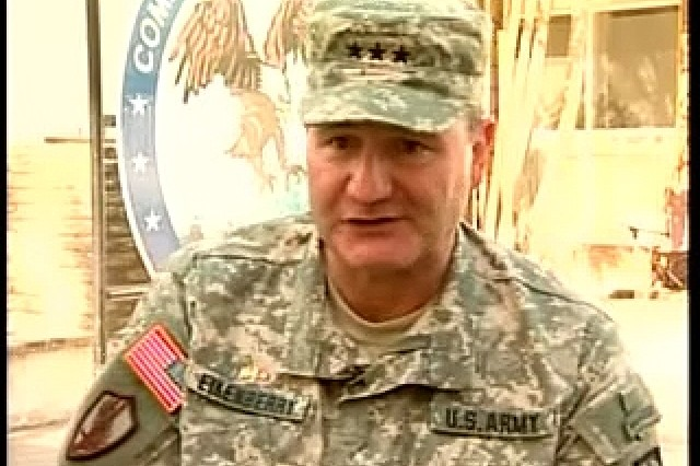 LTG Karl Eikenberry talks about the progress made in Afghanistan over the past four years. SGT Courtney Thomas reports.