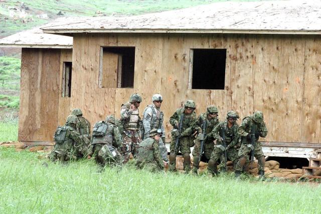 Guard trains alongside Japanese in Rising Warrior