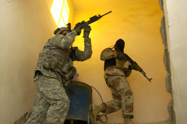 The Soldiers clear each room and then the roof.