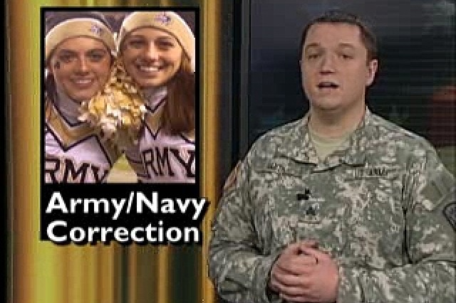 Holiday card drive through Hallmark with Operation for Gratitude and Cards for Troops; Army-Navy game broadcast correction.
