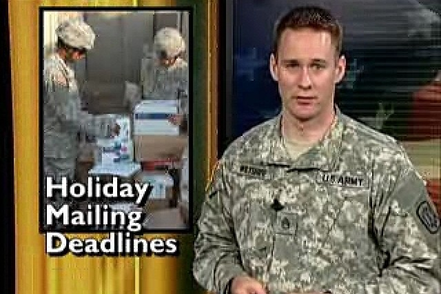 Medical Training Simulation Center at Ft. Drum, NY; Holiday mailing deadlines update.