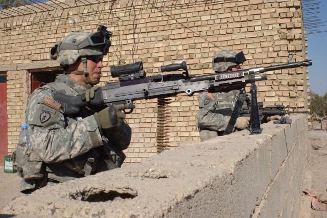Providing security in Al Saab Bour, Iraq
