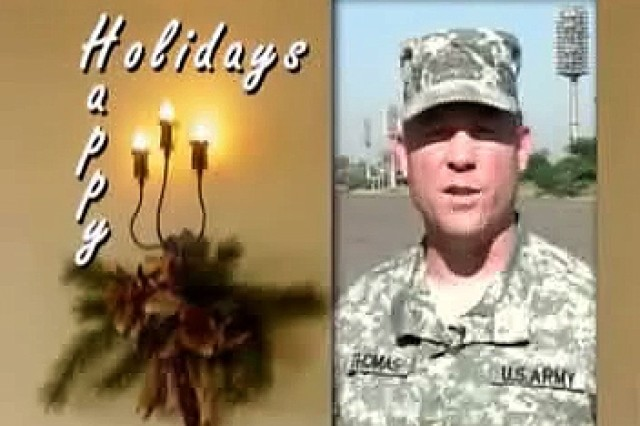 Holiday Greetings from troops to folks back home.
