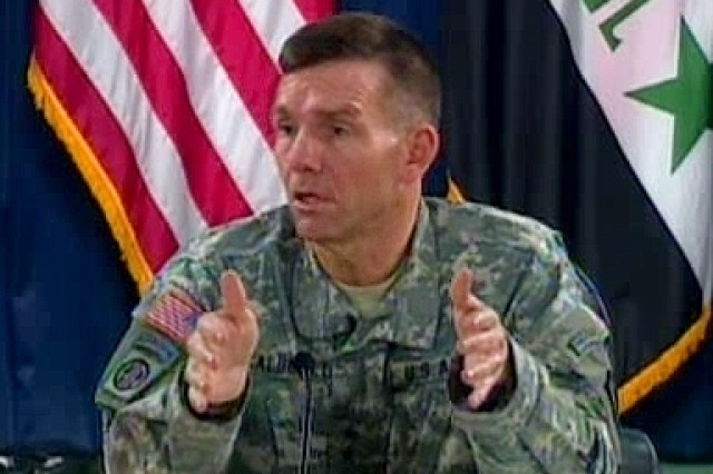 27 Dec 2006 - Multi-National Force-Iraq spokesman MG William Caldwell speaks with reporters in Baghdad, providing an operational update during a roundtable discussion.""