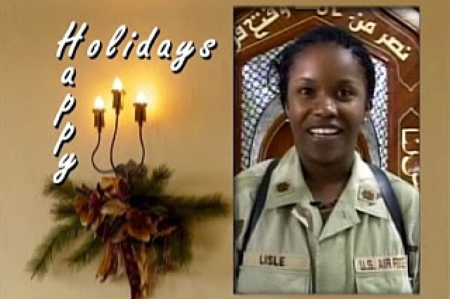 Holiday greetings from troops.