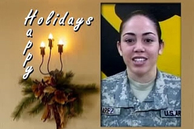 Holiday greetings from the troops.
