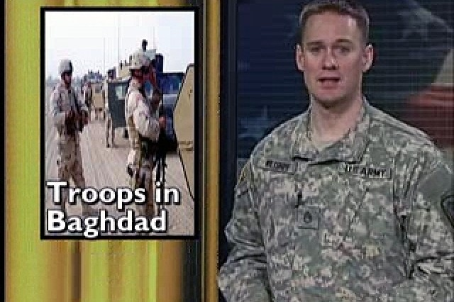 First Soldiers arrive in Baghdad as part of new Iraq strategy; Minnesota Guard unit extended in Iraq.