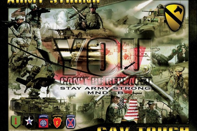 This popular recruiting poster is being used by the 1st Cavalry Division, currently deployed to Camp Liberty, Iraq.