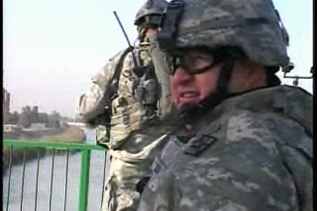 Famous Iraqi bridge inspected for coalition and civilian use by 411th Engineer Brigade.