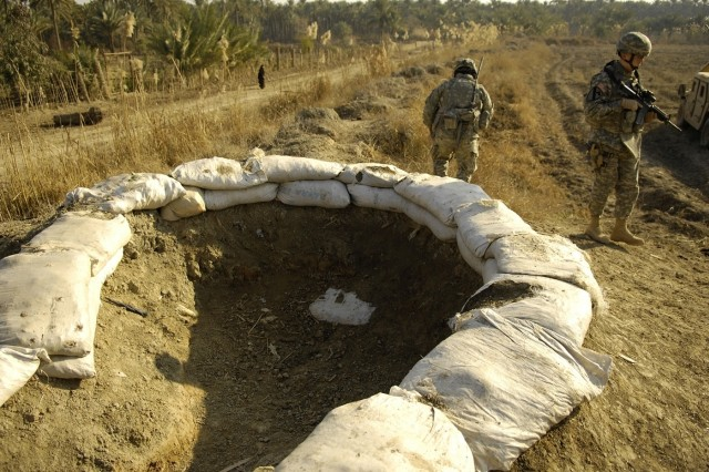 The Soldiers discover a possible mortar emplacement in Abu Nural.