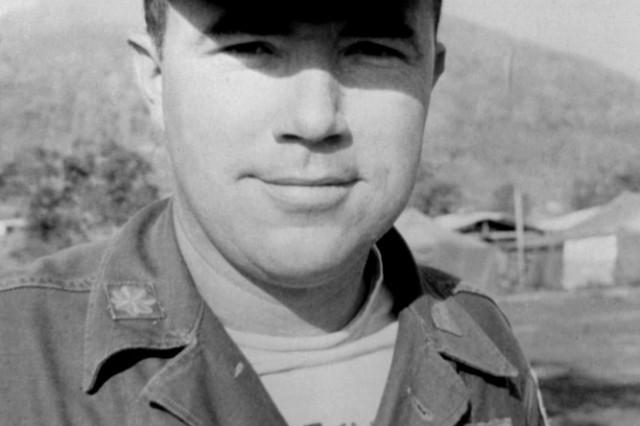 Bruce pictured in Vietnam in 1966.