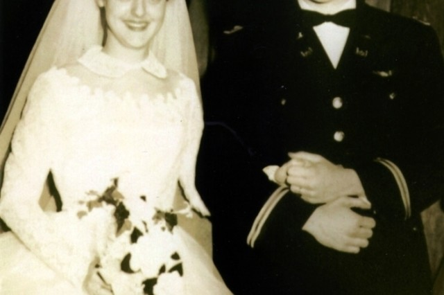 Bruce and Arlene's wedding in Kent, WA on March 31, 1956.