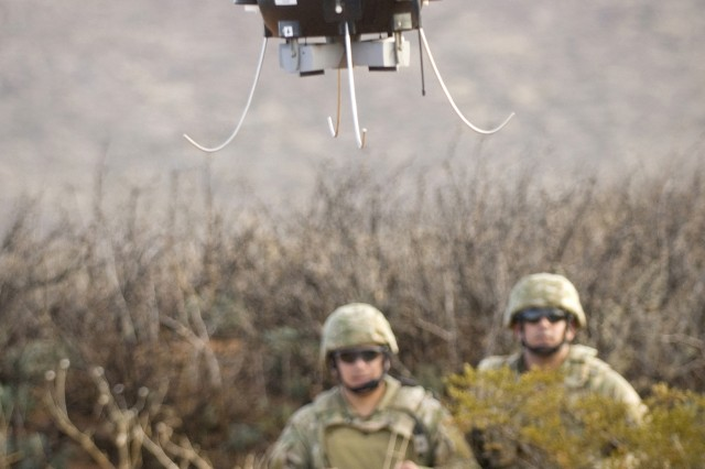 The Future Combat Systems Class I unmanned aerial vehicle can be carried in a backpack and provides dismounted Soldiers with new capabilities in reconnaissance, surveillance and target acquisition capability on the battlefield.