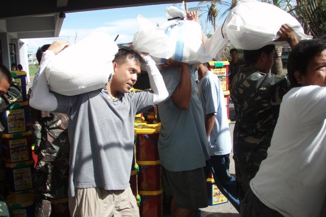 Lab Officer Assists Typhoon Relief in Philippines