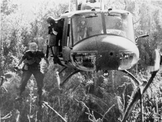 Jumping from a Huey