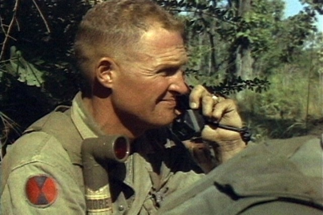 ... LTC Hal Moore, Commander of the 1st Battalion, 7th Cavalry, on the radio