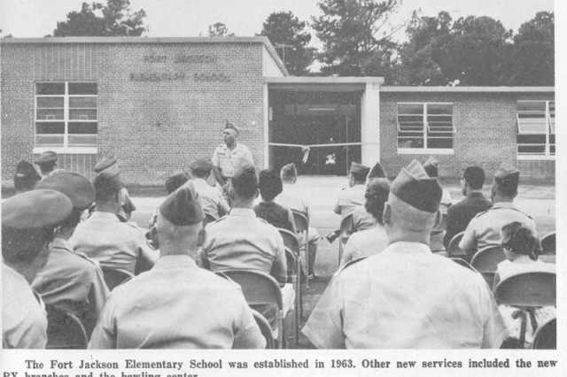 """Hood Street Elementary School during its opening ceremony in 1963."""""""