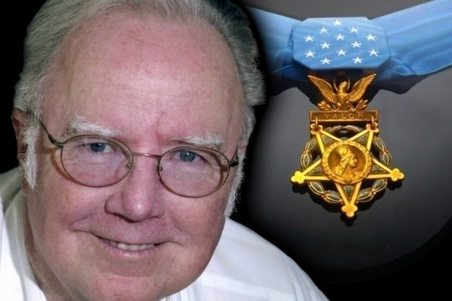 Crandall with Medal of Honor.