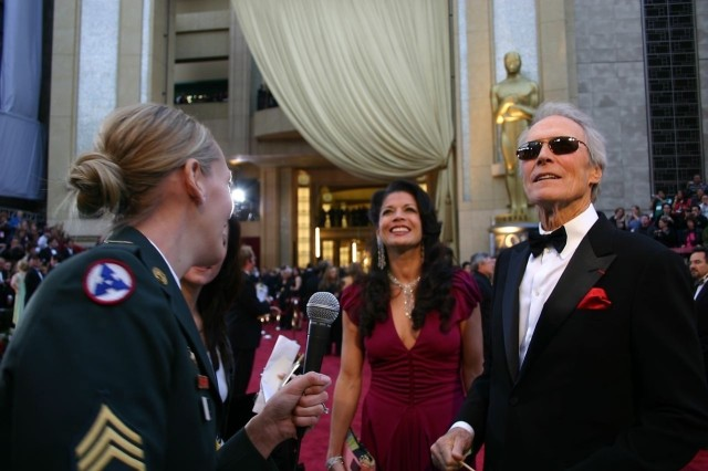 Former Soldier and award nominee Clint Eastwood expresses his thanks to the men and women of the armed forces before the 79th Academy Awards at the Kodak Theatre in Los Angeles, Feb. 25. Other celebrities as well, took the time to thank the Soldiers and pay tribute to their service and sacrifices.