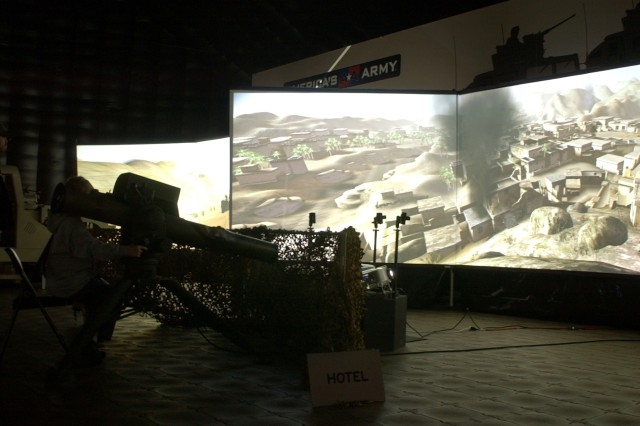 "The Virtual Army Experience, an interactive exhibit that lets guests take on Soldier roles, made its debut last week in Daytona Beach, Fla., during Speedweeks. The 20-minute experience is the life-size version of the Army's computer game, ""America's Army: Special Forces (Overmatch),"" which went online in 2002 and has since attracted more than 8 million registered users."