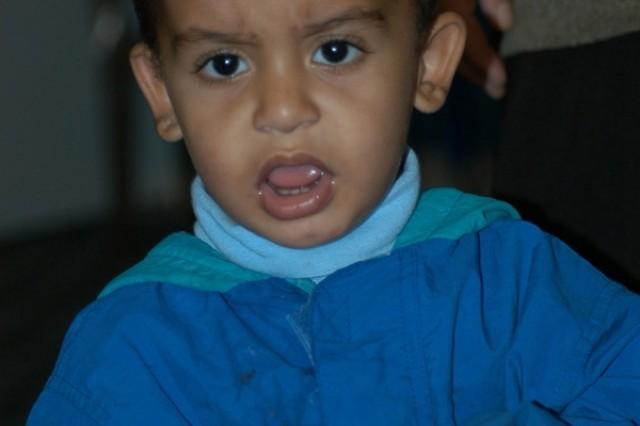 An Iraqi boy in an orphanage near An Nasiriyah.