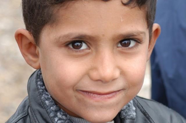 An Iraqi boy.