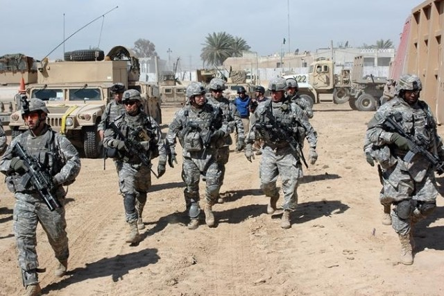 U.S. Soldiers participate in the operation as well.