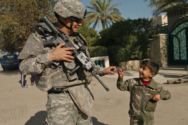 Battle Buddies: Sergeant Major, Iraqi General's Son Share Special Bond
