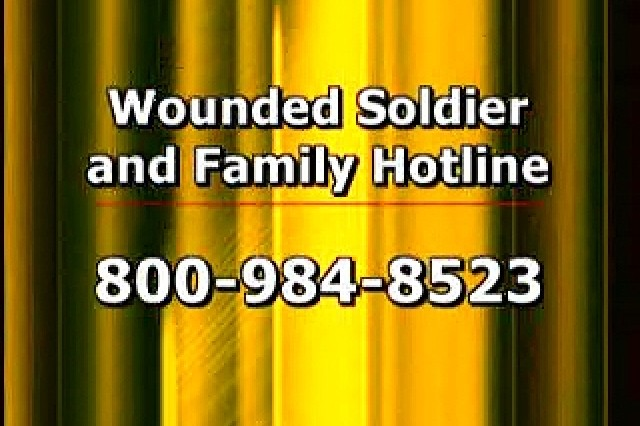 Wounded Soldier and Family Hotline number.