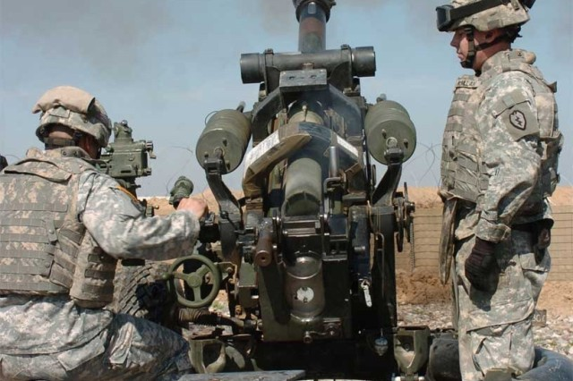 The Soldiers fire another round, testing for speed and accuracy so they can support the infantry more effectively.