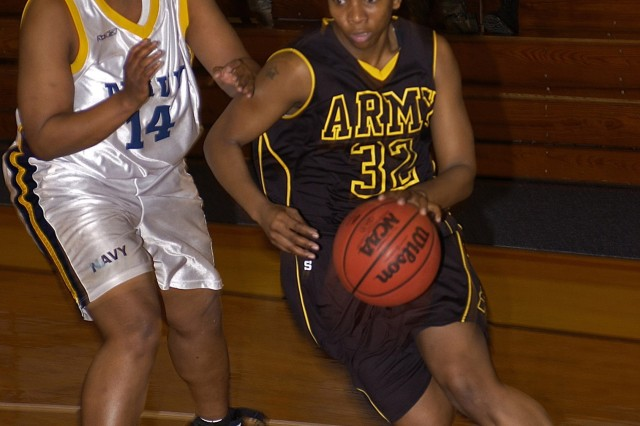 All-Army reserve forward Pfc. Shelly Jones of Fort Bragg, N.C., averages 10.3 points and 9.7 rebounds in six games to help the Soldiers win the 2007 Armed Forces Women's Basketball Championship with a record of 6-0 against sister services March 12 through 17 at Fort Indiantown Gap, Pa. Jones was named to the All-Tournament Team and the Armed Forces All-Star Team scheduled to play in the Pro-Am National Championships March 28 through April 1 in Las Vegas.