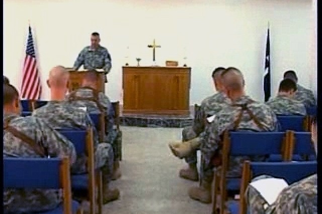 Deployed Soldiers keep the faith in Iraq with church services and study groups.""