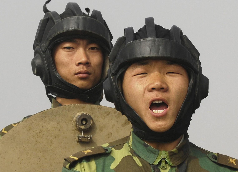 military people meet