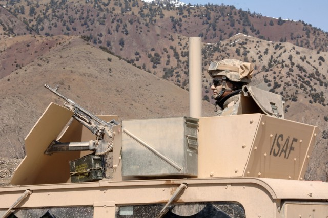A Soldier from the Connecticut National Guard patrols Gardez Province.