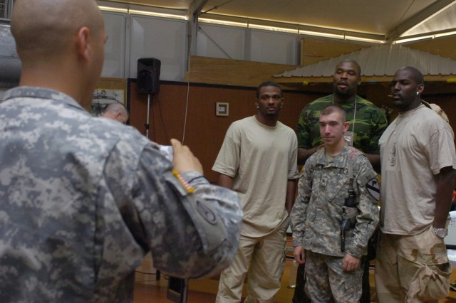 NFL Athletes Boost Soldiers' Morale in Iraq