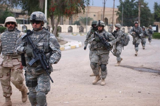 Col. B. Don Farris, commander of 2nd Brigade Combat Team, 82nd Airborne Division, leads his Soldiers from the front.