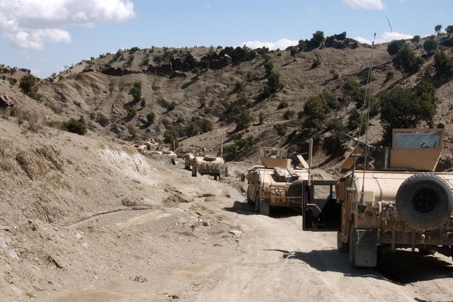 Soldiers from the 10th Mountain Division deliver supplies to a remote outpost in Afghanistan.