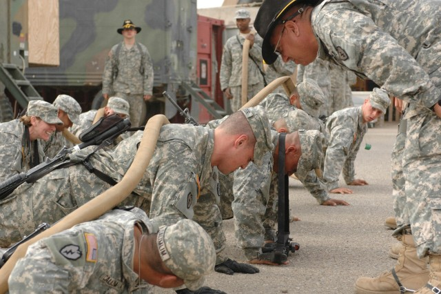The Soldiers also must do push-ups.