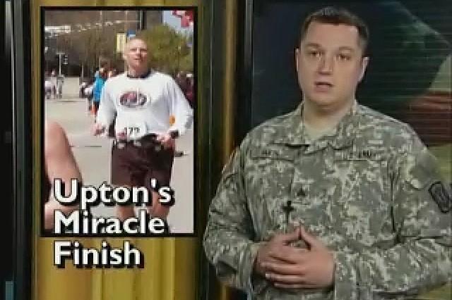 Army Major Ron Upton beats paralysis to complete the St. Louis Marathon.