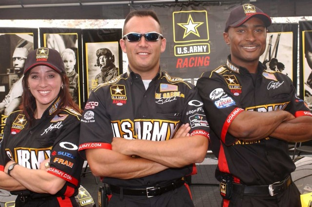 """This weekend, U.S. Army NHRA drivers Tony """"The Sarge"""" Schumacher, Angelle Sampey and Antron Brown will be looking to change their fortunes in the O'Reilly Midwest Nationals at Gateway International Raceway in Madison, Ill."""
