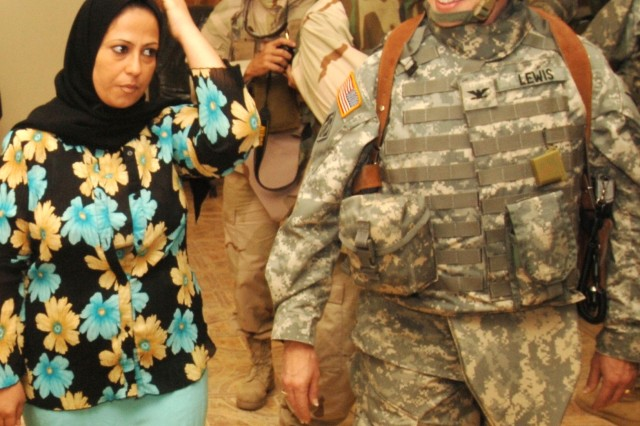 Col. Deborah Lewis, commander of the Army Corps of Engineer's Gulf Regional Central District in Iraq, May 5.