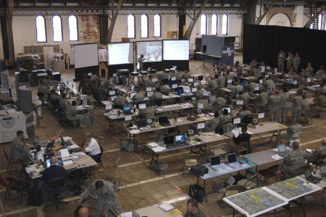 Government agencies and emergency responders participated in the recent Ardent Sentry-Northern Edge '07 exercise that took place inside Cranston Street Armory, Providence, R.I.